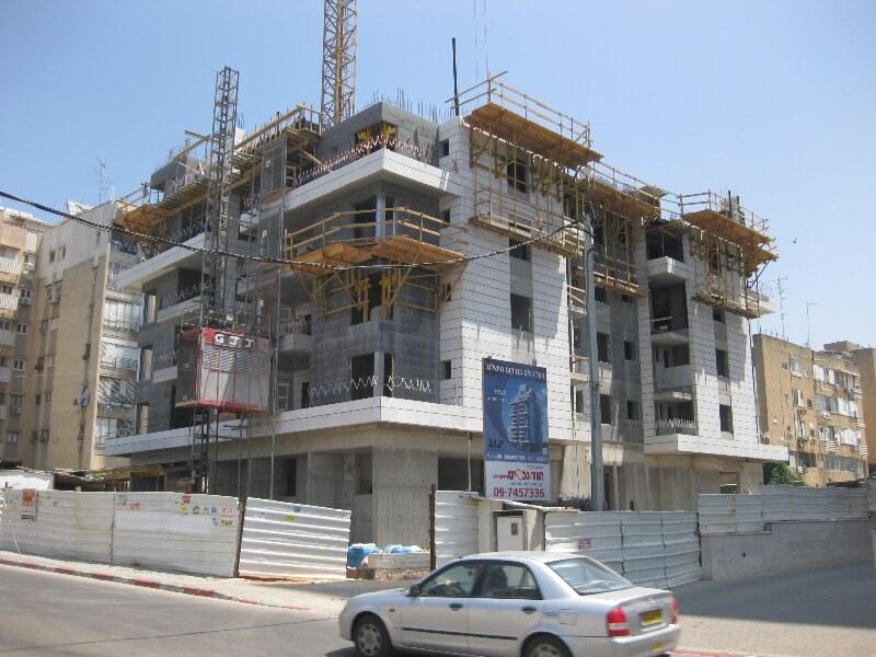 פרויקט בבניה-רחוב השחר הוד השרון